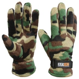 Gloves fleece camouflage (-20 degrees) with fixation with a strap on the wrist, size XL