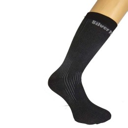 Thermal socks of medium thickness, color gray, size 36-38 (S)