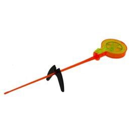 """Fishing rod winter bezosevaya """"Balalaika"""" (analog WH), China, reel 47 mm, length 260 mm (yellow-orange)"""