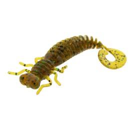 Edible silicone bait Fanatik, Larva LUX 3'-75mm (pack 6pcs) color 004