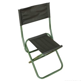 "Tourist chair. ""FOOTPRINT"" folding with spin, bol. 420x490x940mm, steel pipe 25x1 mm (ripstop T.haki)"