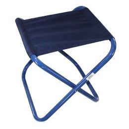 """Tourist chair. """"FOOTPRINT"""" folding bol. 410x460x470mm, steel pipe 25x1 mm (ribstop t. Blue)"""