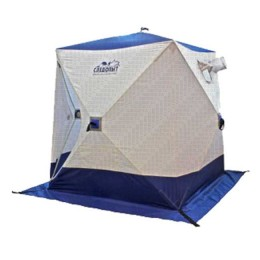 Tent winter cube Pathfinder 2.1 x 2.1 m, Oxford 210D PU 1000, 4-seater, col. white and blue