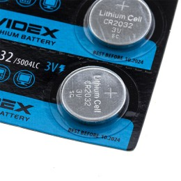 Lithium battery CR2032, 3v, 225 mAh, dia.20 mm, height 3.2 mm
