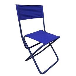 "Tourist chair. ""FOOTPRINT""folding with spin., medium 350x470x810mm, steel pipe 20x1 mm (cornflower)"