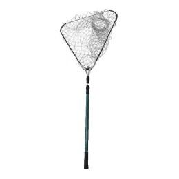 Telescopic folding landing net Namazu L - 180 cm, triangular rim 50 cm, nylon