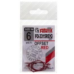 FANATIK FO-3315R Offset hooks No. 6 (pack of 5 pcs)