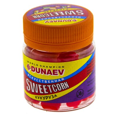 Artificial bait Dunaev Sweetcorn Corn 10 mm Red Natural, from: Dunaev