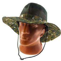 Fishing hat, mesh, pixel green