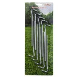 Tent pegs set 10 pcs, steel 5 mm, length 19 cm